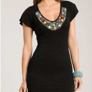 NWT Guess by Marciano Staci Stone Beaded Tunic S